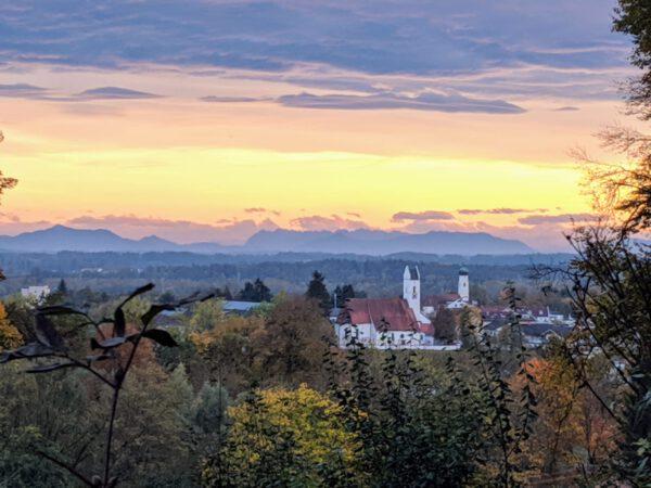 Winhöring in der Abendsonne; Foto: Gemeinde Winhöring